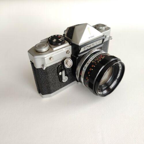 PETRI Flex V Color Corrected Super SLR Camera w/ 55mm f/2 Lens Made in Japan