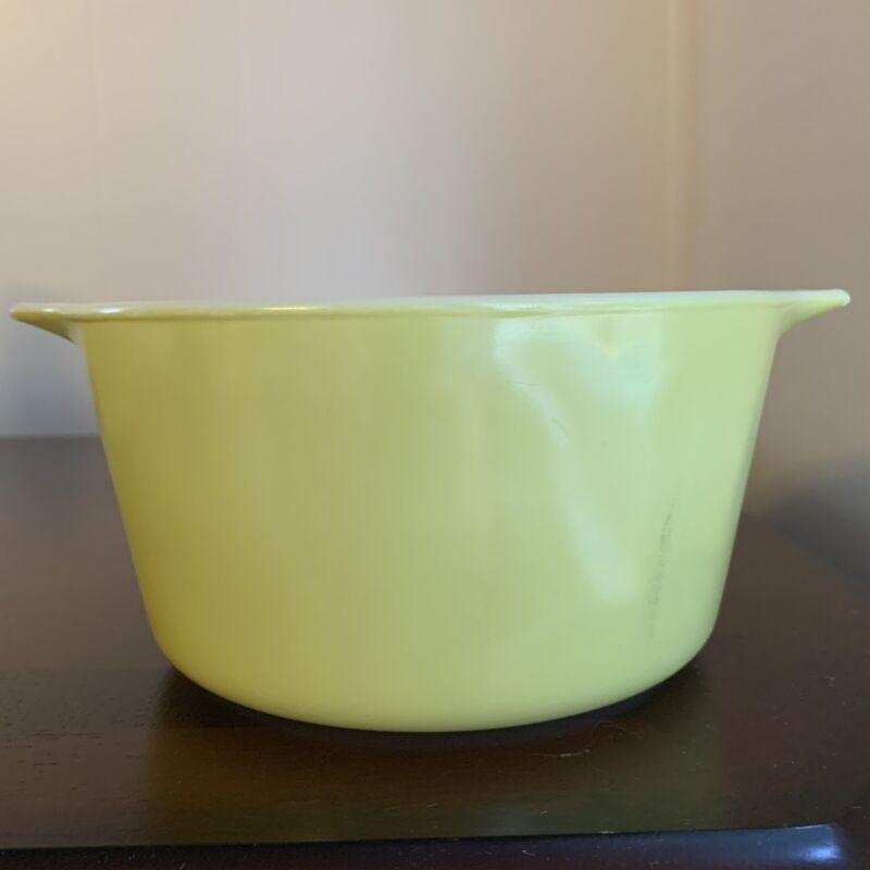 Vintage Pyrex 473 1 Qt Avocado Green Casserole Baking Bowl Dish No Lid USA