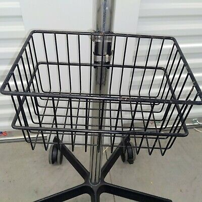 Rolling Stand For Datascope Passport Xg Patient Monitors With Basket Lock Wheels