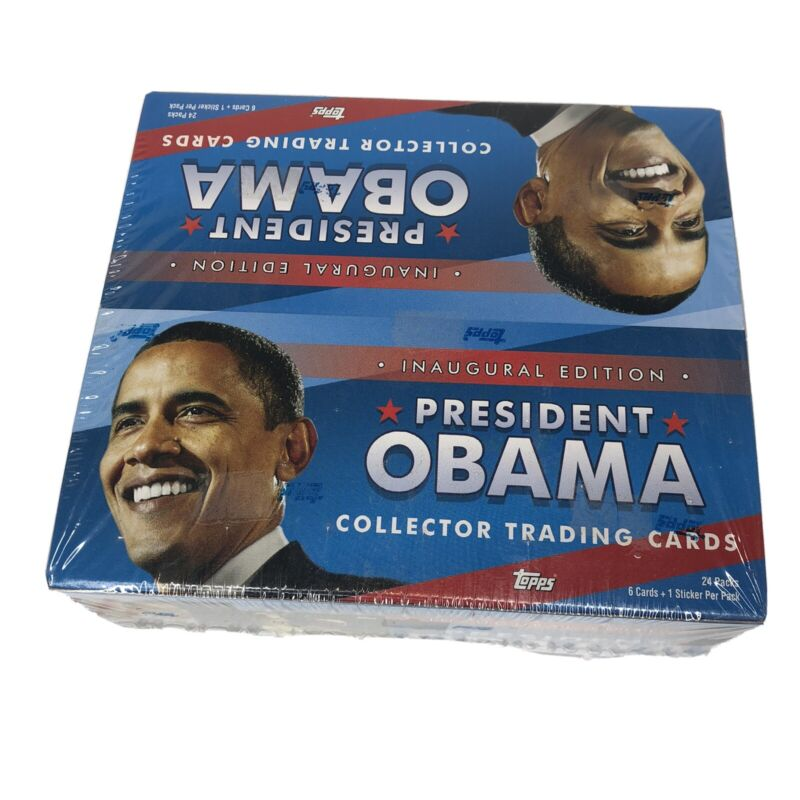 TOPPS sealed BOX OF PRESIDENT OBAMA COLLECTOR TRADING CARDS TOPPS  24 PACK