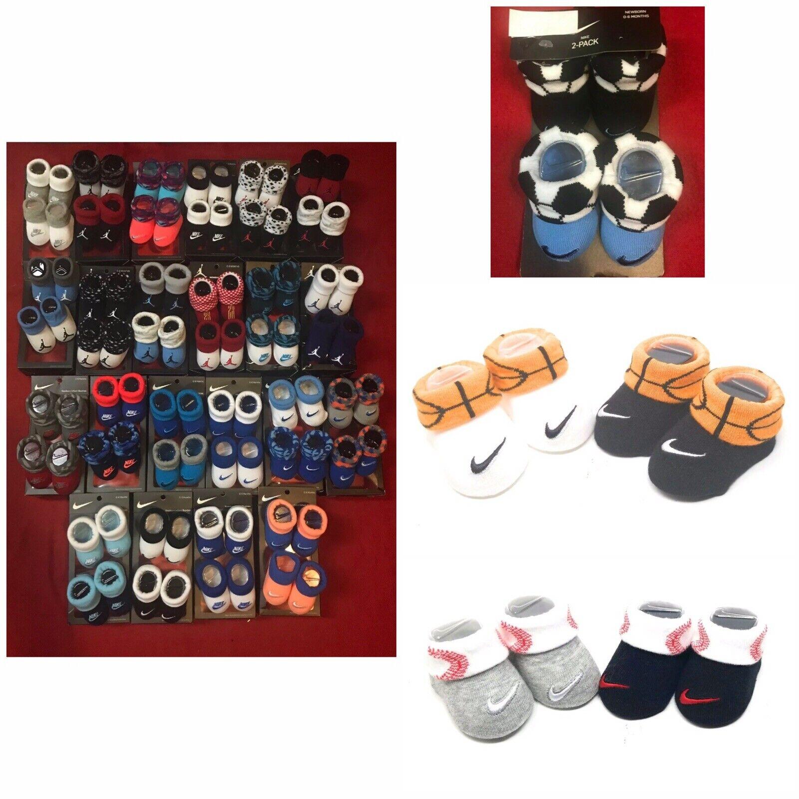 Nike Air Jordan Jumpman Infant Baby Newborn 2 Pack Booties Socks Sz 0-6 Mo Pick