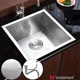 "17""x17"" Single Bowl Stainless Steel Kitchen Sink 19 Gauge Top/Undermount Home"