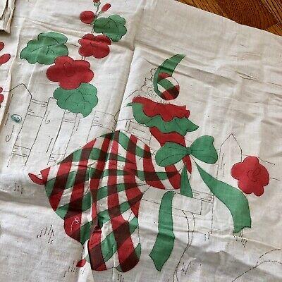 Muslin Apron Appliqued Apron Asian Apron Handmade Apron Vintage