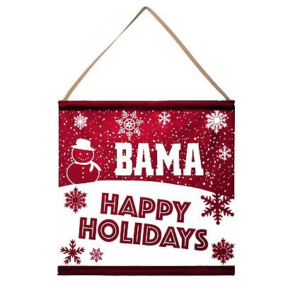 Alabama Crimson Tide Happy Holidays Banner Sign Christmas Wall Door Decoration ()
