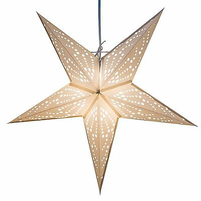 Frozen Paper Star Light Lamp Lantern with 12 Foot Cord Included - Paper Star Lanterns