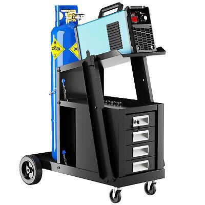 Ironmax Welding Welder Cart Plasma Cutter Tank Storage Cabinet Mig Tig Arc
