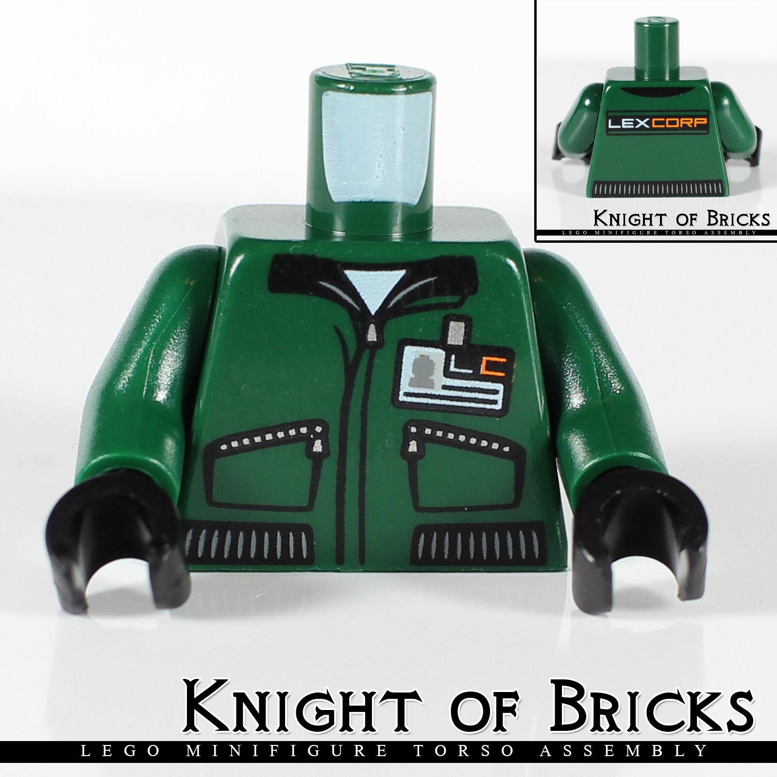 Lego New Dark Blue Minifigure Torso Male Superman Logo Pattern Figure Piece