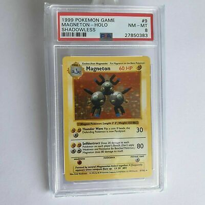 Magneton Holo Englisch SHADOWLESS PSA 8 NM - MINT Pokemon Base Set #9