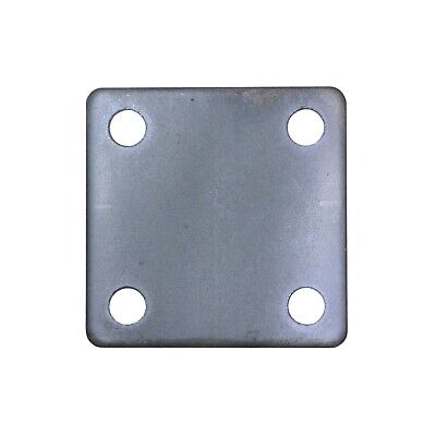 Steel Flat Square Metal Base Plate 3 X 3 X 316 Thickness 38 Hole Qty 4