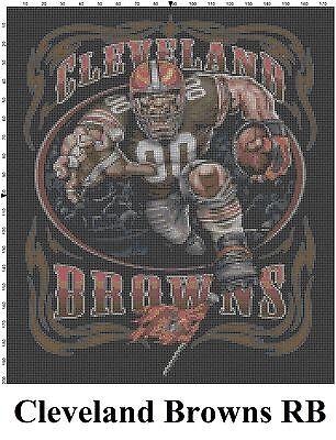 NFL Cleveland Browns Mascot cross stitch pattern Cleveland Browns Nfl Pattern