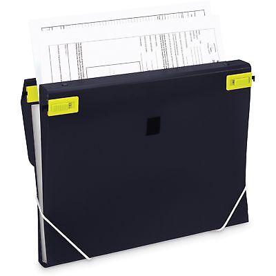 "Samsill 3-in-1 Binder Organizer 1"" Capacity 8-1/2""x11"" Black 10140"