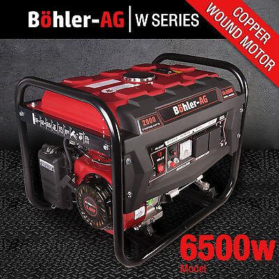 Generator 6500w 8HP Petrol 2.8KVA 4 Stroke - Low Noise - UK POWER PLUG SOCKETS