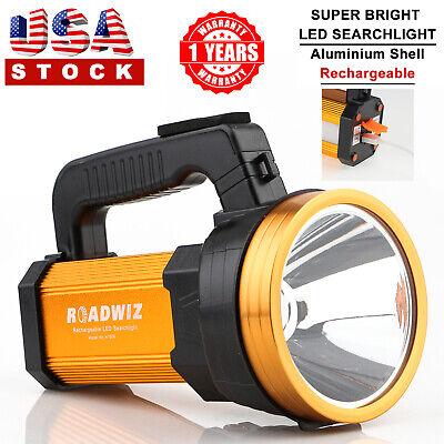 Roadwiz LED Searchlight USB Rechargeable Flashlight Spotlight Aluminum