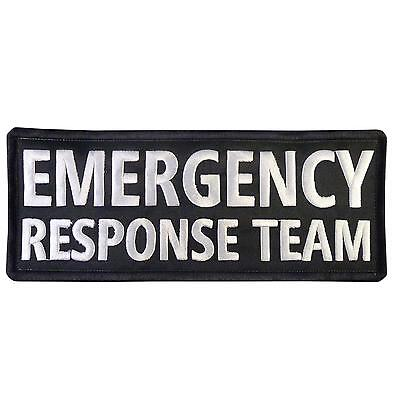 4 Inches Team Patch (EMERGENCY RESPONSE TEAM big XL 10x4 inch embroidered EMT touch fastener)