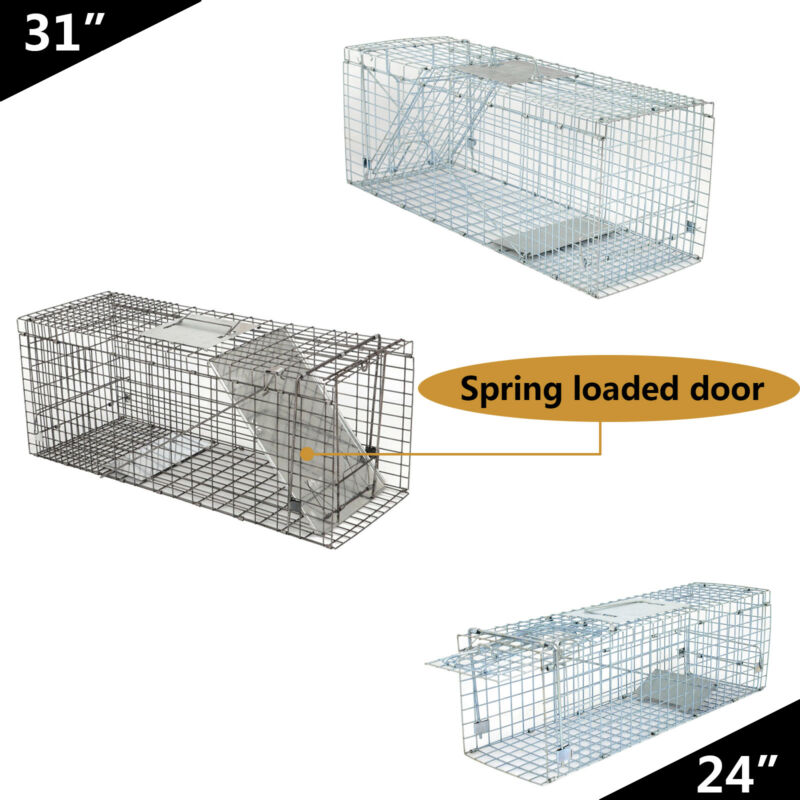 """24"""" 32""""  Live Animal Trap Large Rodent Cage Double Size For Little Pets"""