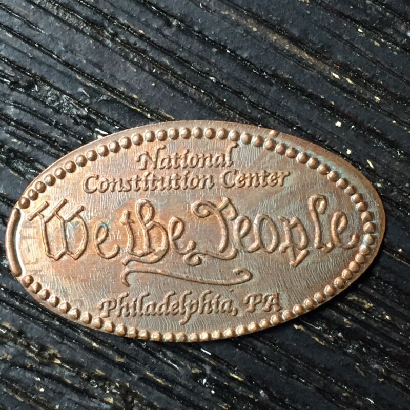 National Constitution Center We The People Smashed pressed elongated penny P805