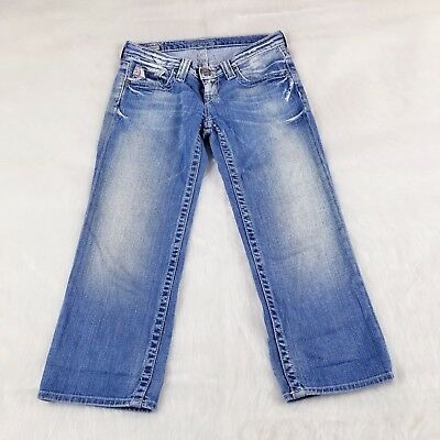 (Big Star Casey Crop Women's Jeans Size 25 Measured 28x22)