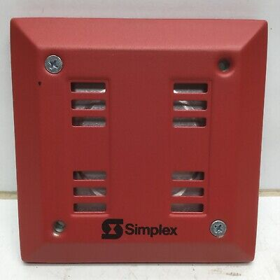 Simplex 2901-9845 Red Flush Mount Fire Alarm Signaling Horn 21-30 Vdc 626-073