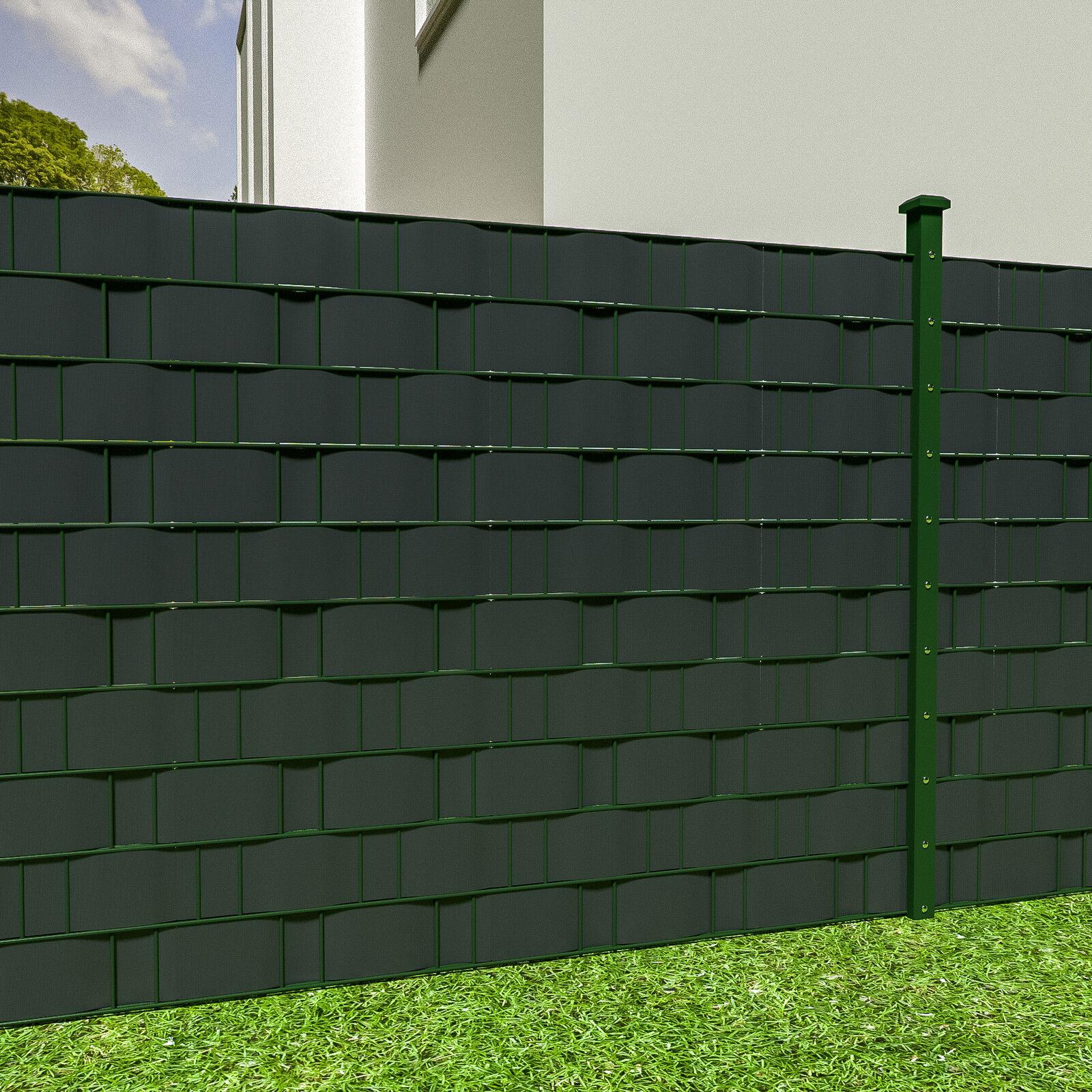 pvc sichtschutz streifen sichtschutzfolie doppelstabmatten zaun 70m anthrazit eur 34 99. Black Bedroom Furniture Sets. Home Design Ideas