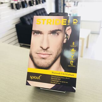 BRAND NEW SPROUT STRIDE BLUETOOTH V4.0 EARBUDS TAX INVOICE