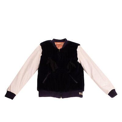 RRP €290 N 21 KIDS Faux Fur Varsity Jacket Size 42 12Y 158-164CM Made in Italy