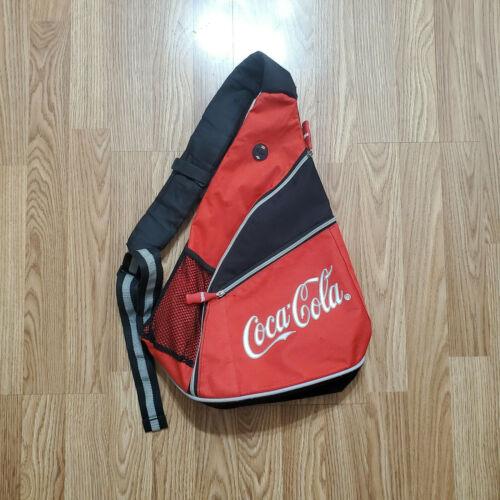 Unique Rare Coca Cola Crossbody Small Round Canvas Red Bag