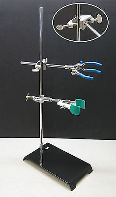 Nc-12844 Lab Stand Kit 3 Finger Clamp Buret Clamp And Clamp Holder