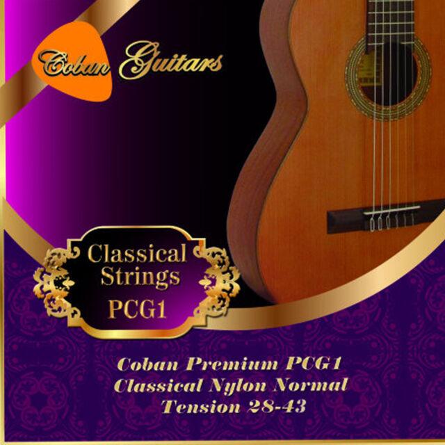 Coban Guitars Premium PCG1 Classical Nylon Normal Tension 28-43 x 6 Strings.