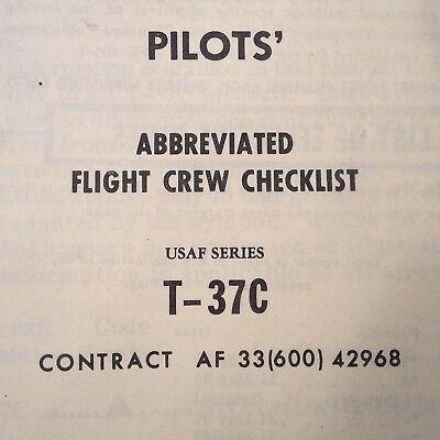 T-37C Tweet Pilot's Abbreviated Flight Crew Checklist