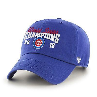 Chicago Cubs 47 Brand MLB 2016 World Series Champions Adjustable Cap Hat
