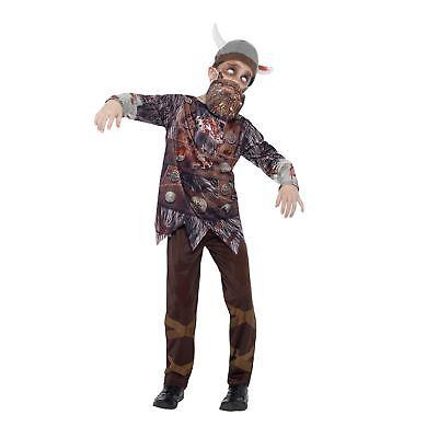 Jungen Luxus Walker Zombie Mittelalterlicher Krieger Thron König - Wikinger König Kostüm