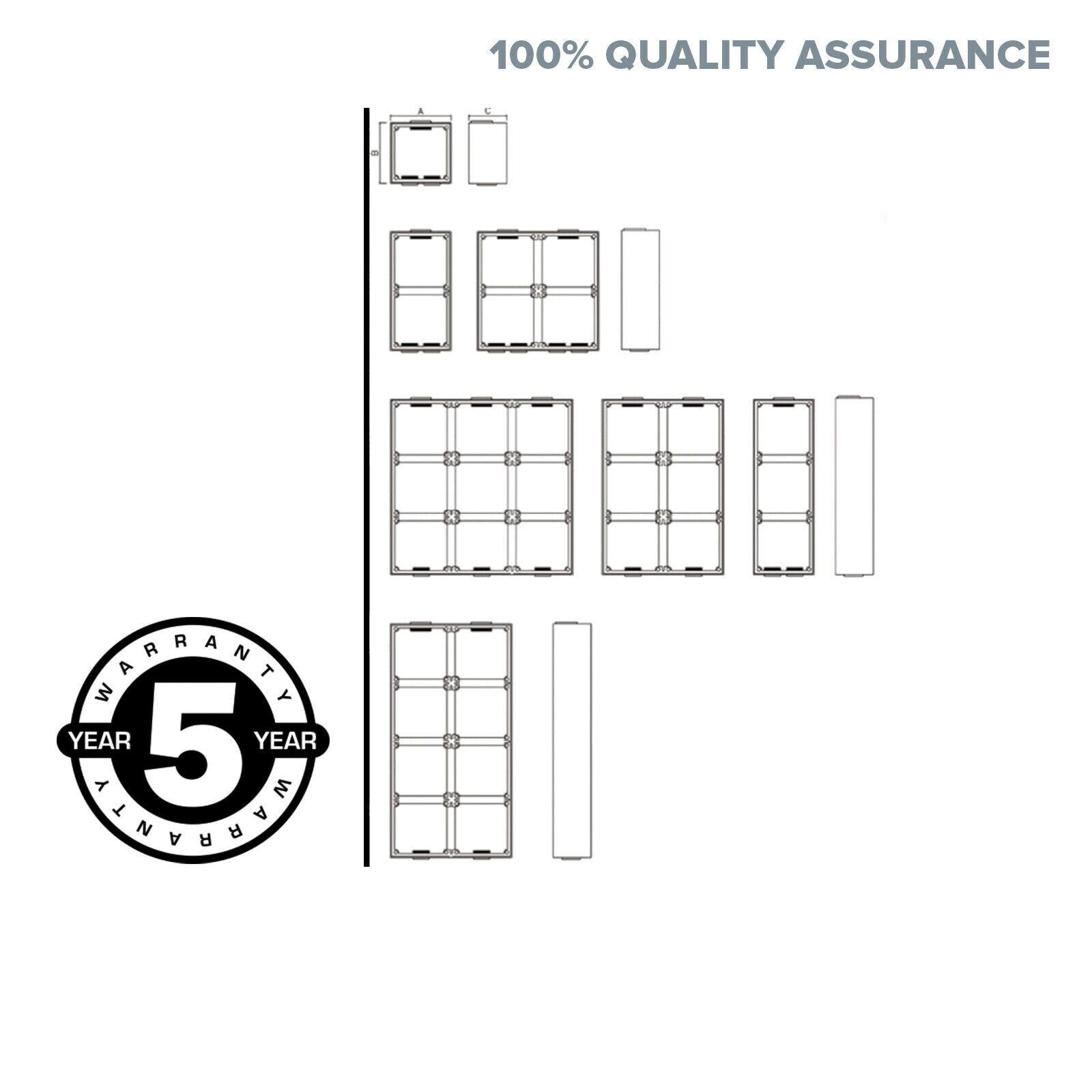 6 Six Way Mounting Block Enclosure Box Switches Conduit