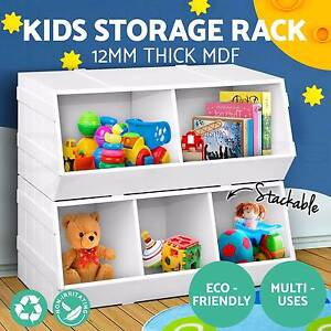 Kids Toy Box Storage Cabinet Stackable Bookcase Rack Bookshelf Adelaide CBD Adelaide City Preview