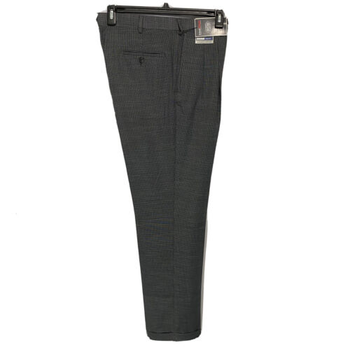 Roundtree & Yorke Travel Smart Ultimate Comfort Classic Fit Pants 34×32 charcoal Clothing, Shoes & Accessories
