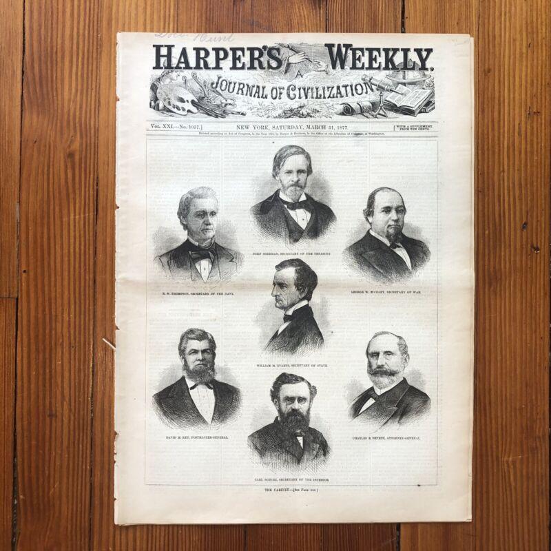 Rare 1877 newspaper FREDERICK DOUGLASS appointed US MARSHALL for WASHINGTON DC