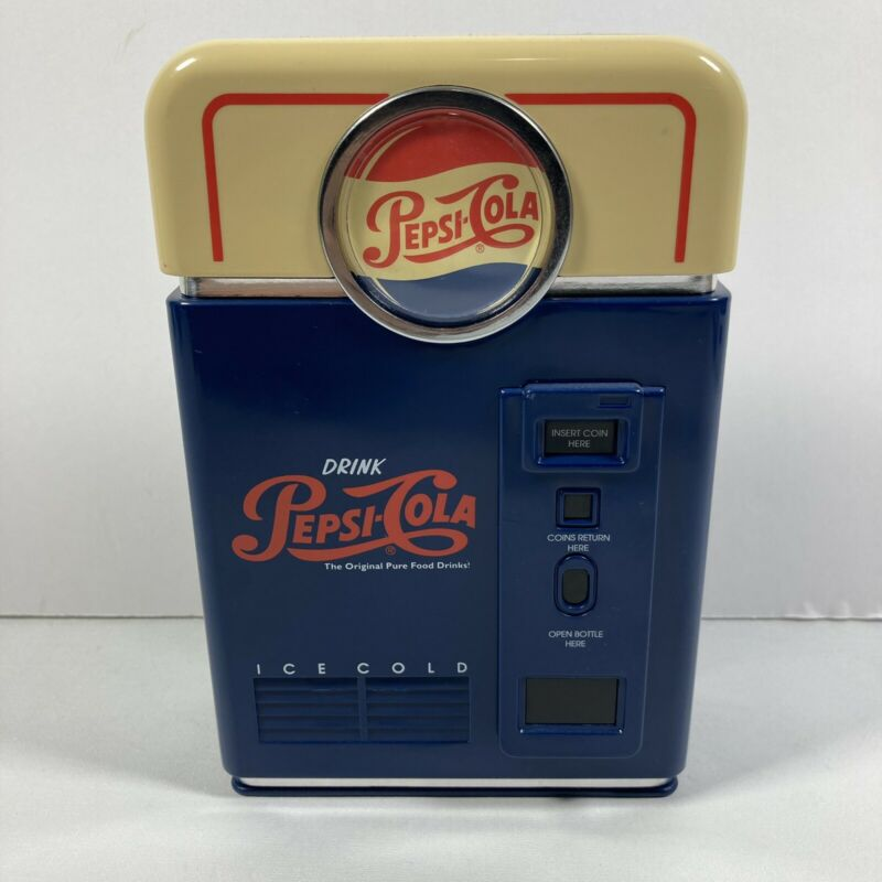 Vintage 1998 Pepsi Cola Retro Soda Pop Machine Coin Sorter Bank