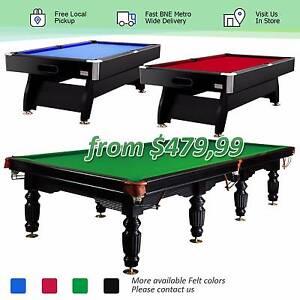 7、8、9、10、12FT MDF Slate Pool Billiard Table Free BNE Metro Post Rocklea Brisbane South West Preview