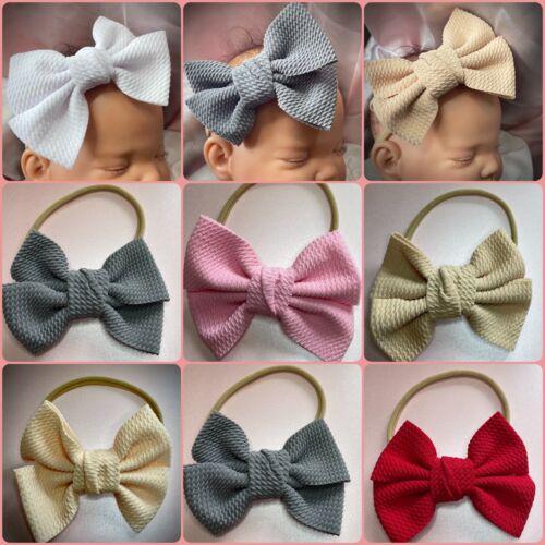 Baby / toddlers thin baby headband baby hairband large bow baby headband big bow