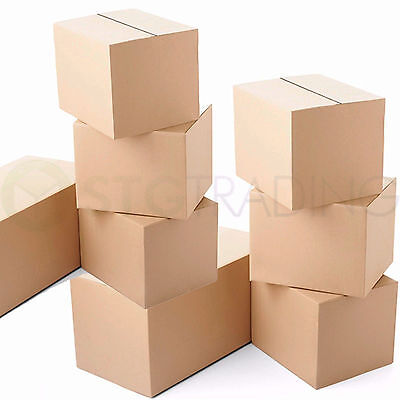 50 x Small Cardboard Mailing Shipping Boxes 6x6x6