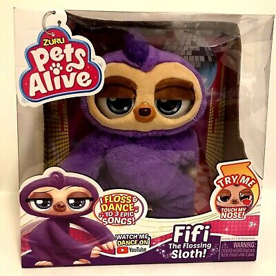 NEW Pets Alive Fifi the Flossing Sloth Battery-Powered Robotic Toy by ZURU