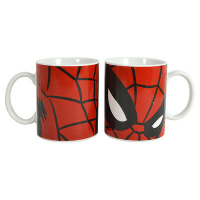 Spider-Man Mug. Spiderman merchandise Marvel Comic cup Gift for Him Men Man Kids