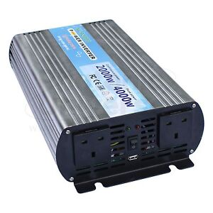 2000W (peak 4000W) pure sine wave power inverter 24V battery to 240V 2000 watt