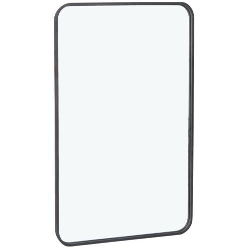 Rectangular Wall Mounted 24″ x 36″ Mirror Metal Framed Bathroom Vanity Mirror Home & Garden