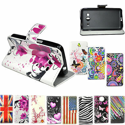 Stand Flip PU Leather Pouch Case Cover Fit For Samsung Galaxy Core 2 II SM-G355H