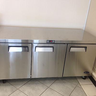 New 72 3 Door Undercounter Worktop Refrigerator Casters Free Lift Gate Delivery