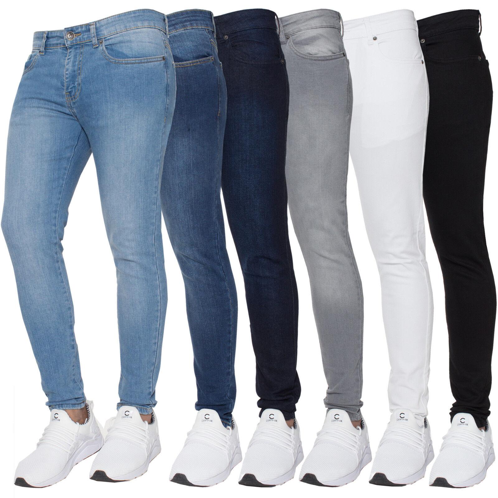 Enzo Jeans Pantaloni Aderenti Elasticizzati da Uomo Skinny Misura 28 42 Nuovi