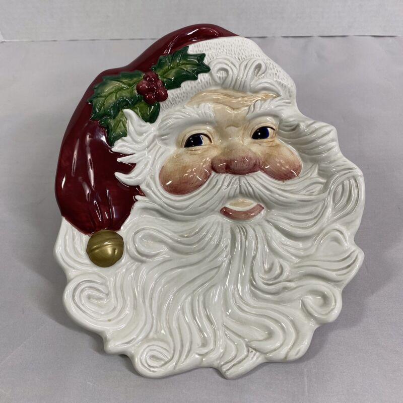 Fitz & Floyd Christmas Santa Face Cookie Canape Wall Decoration