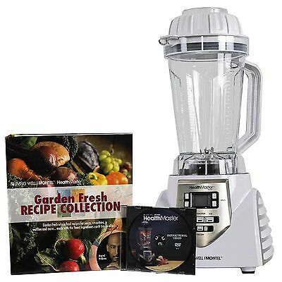 Montel Williams 1200 Watt 8-Speed HealthMaster Elite Blender & Emulsifier, White
