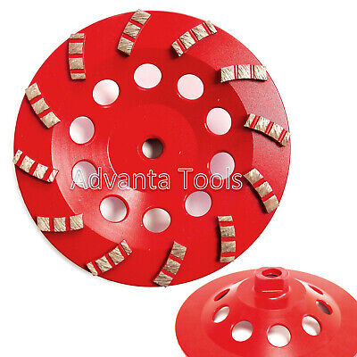 7 E Style Spiral Turbo Diamond Cup Wheel For Concrete Grinding 12 Segs 58-11