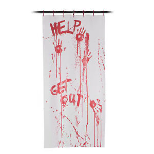 Color Changing Blood Shower Curtain